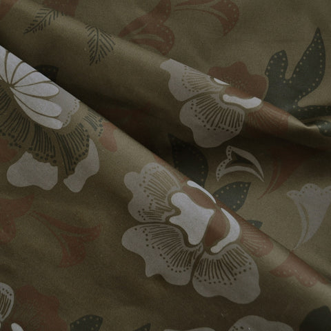 Camouflage Floral Cotton Twill Olive