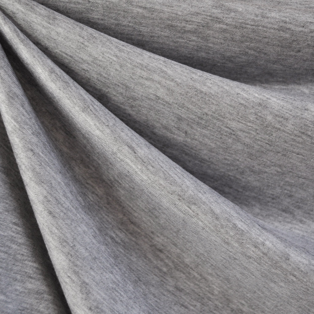 Modal Jersey Knit Solid Heather Grey - Fabric - Style Maker Fabrics