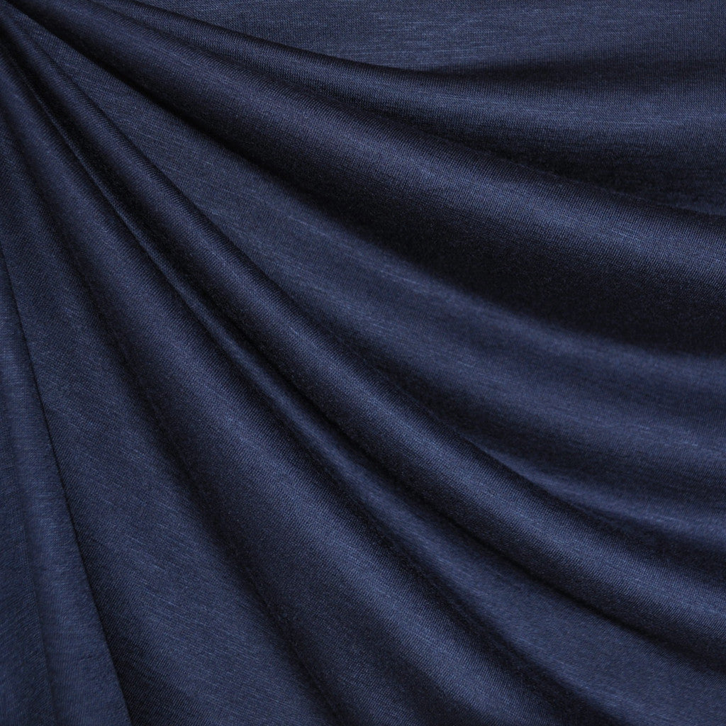 Modal Jersey Knit Solid Navy Blue - Sold Out - Style Maker Fabrics