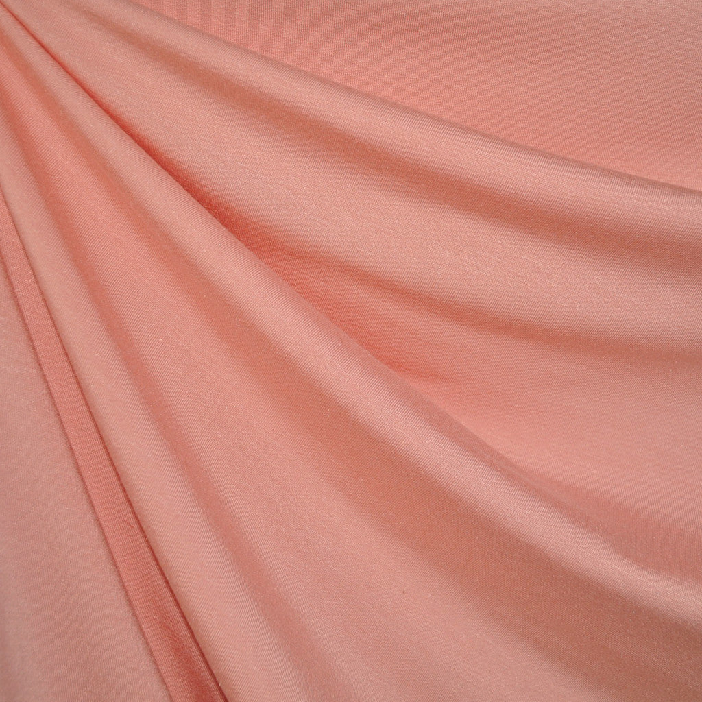 Modal Jersey Knit Solid Peach - Fabric - Style Maker Fabrics