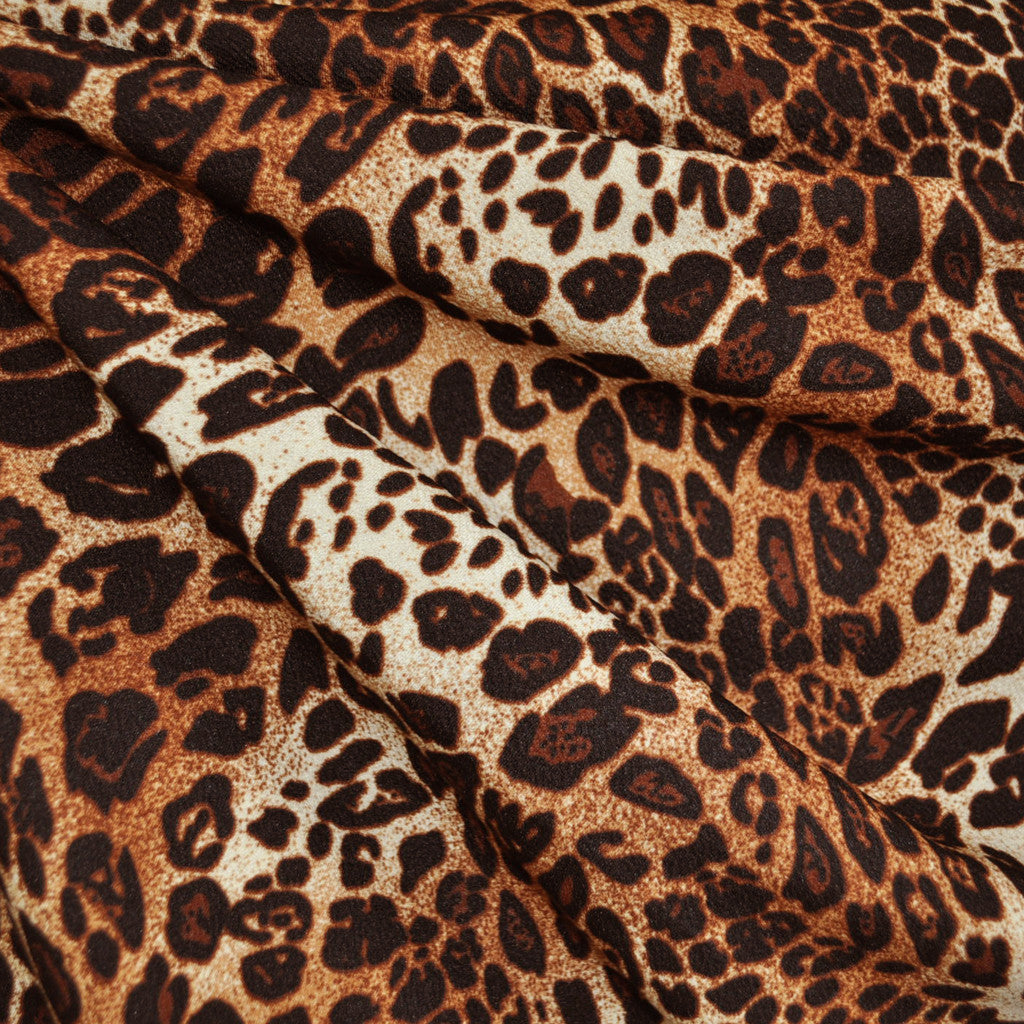 Texture Double Knit Animal Print Rust - Fabric - Style Maker Fabrics