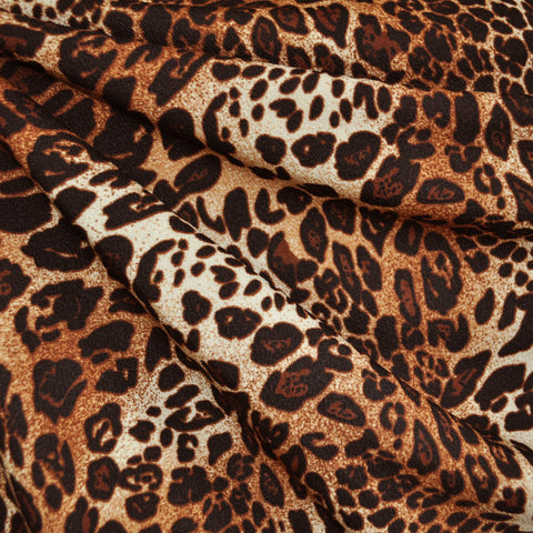 Texture Double Knit Animal Print Rust