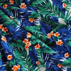 Texture Double Knit Tropical Leaves Emerald - Sold Out - Style Maker Fabrics