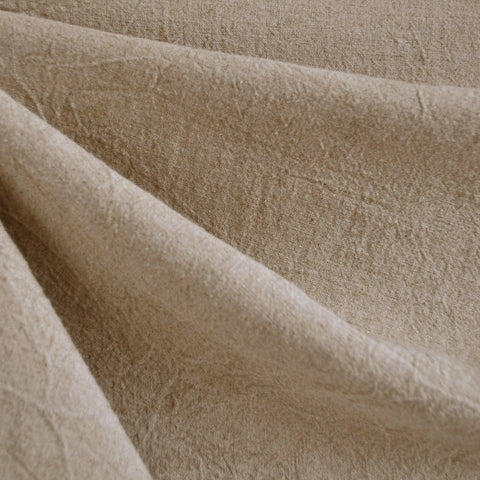 Crinkle Washed Linen Blend Natural