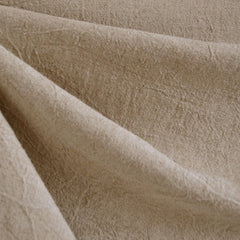 Crinkle Washed Linen Blend Natural - Sold Out - Style Maker Fabrics