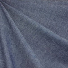 Chambray Cotton Shirting Indigo - Fabric - Style Maker Fabrics