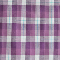 Plaid Stretch Shirting Aubergine/White - Sold Out - Style Maker Fabrics