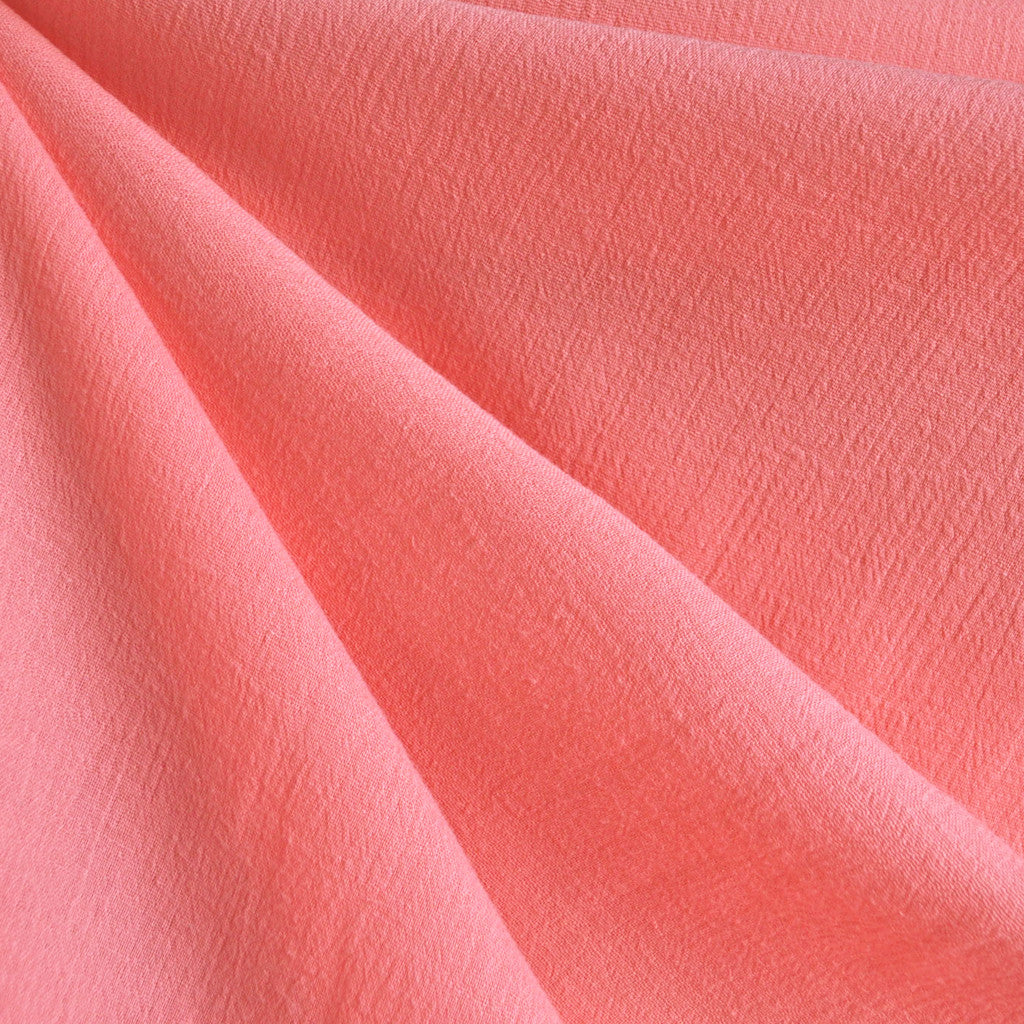 Bubble Gauze Solid Coral - Fabric - Style Maker Fabrics