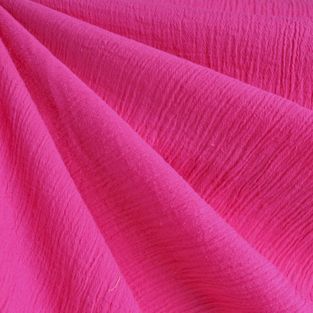 Bubble Gauze Solid Fuchsia SY - Sold Out - Style Maker Fabrics