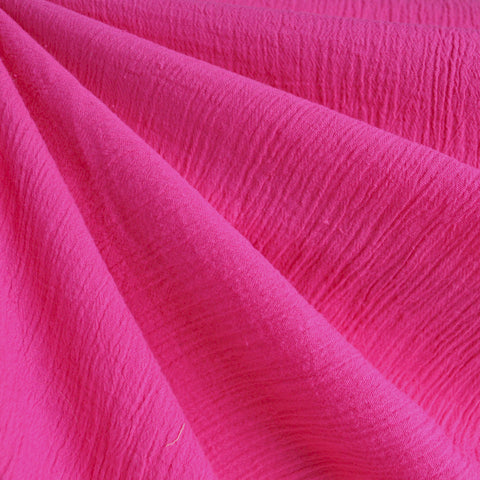 Bubble Gauze Solid Fuchsia