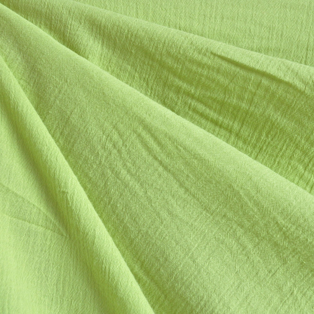 Bubble Gauze Solid Citron SY - Sold Out - Style Maker Fabrics