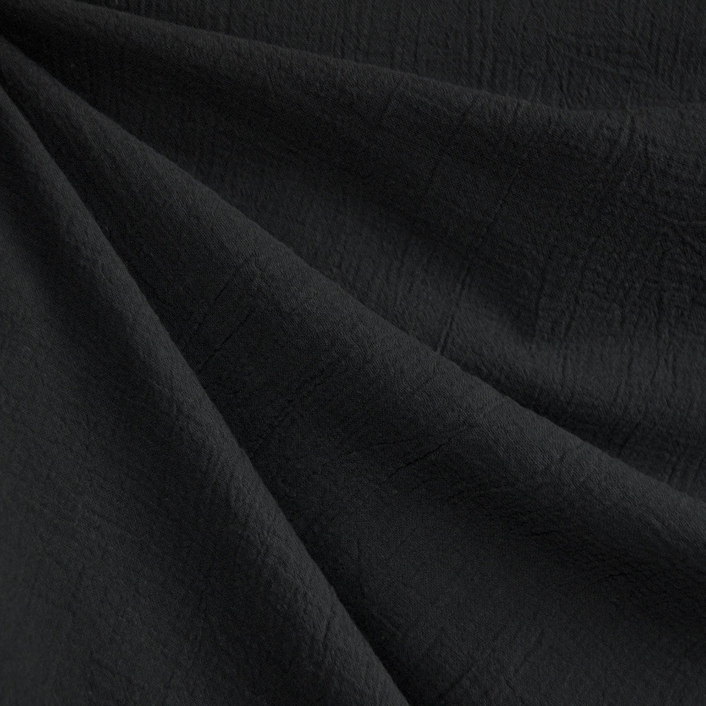 Bubble Gauze Solid Black SY - Sold Out - Style Maker Fabrics