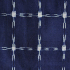 Grid Double Ikat Shirting Navy/White - Sold Out - Style Maker Fabrics