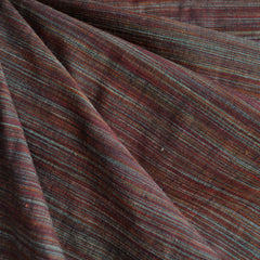 Variegated Stripe Shirting Cranberry SY - Sold Out - Style Maker Fabrics