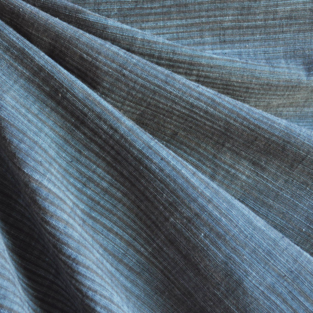 Variegated Stripe Shirting Midnight - Sold Out - Style Maker Fabrics