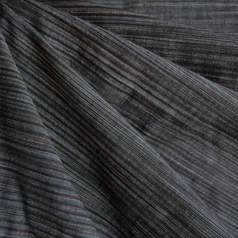 Variegated Stripe Shirting Charcoal