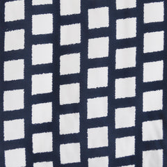 Abstract Grid Rayon Challis Navy/White - Fabric - Style Maker Fabrics