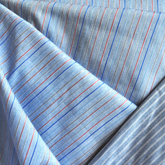 Reversible Stripe Shirting Blue/White/Red SY - Sold Out - Style Maker Fabrics