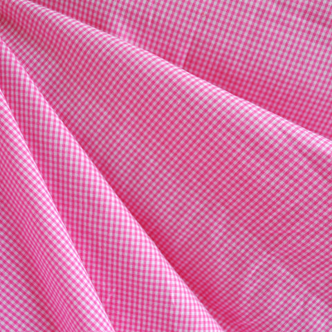 Mini Gingham Shirting Pink/White SY