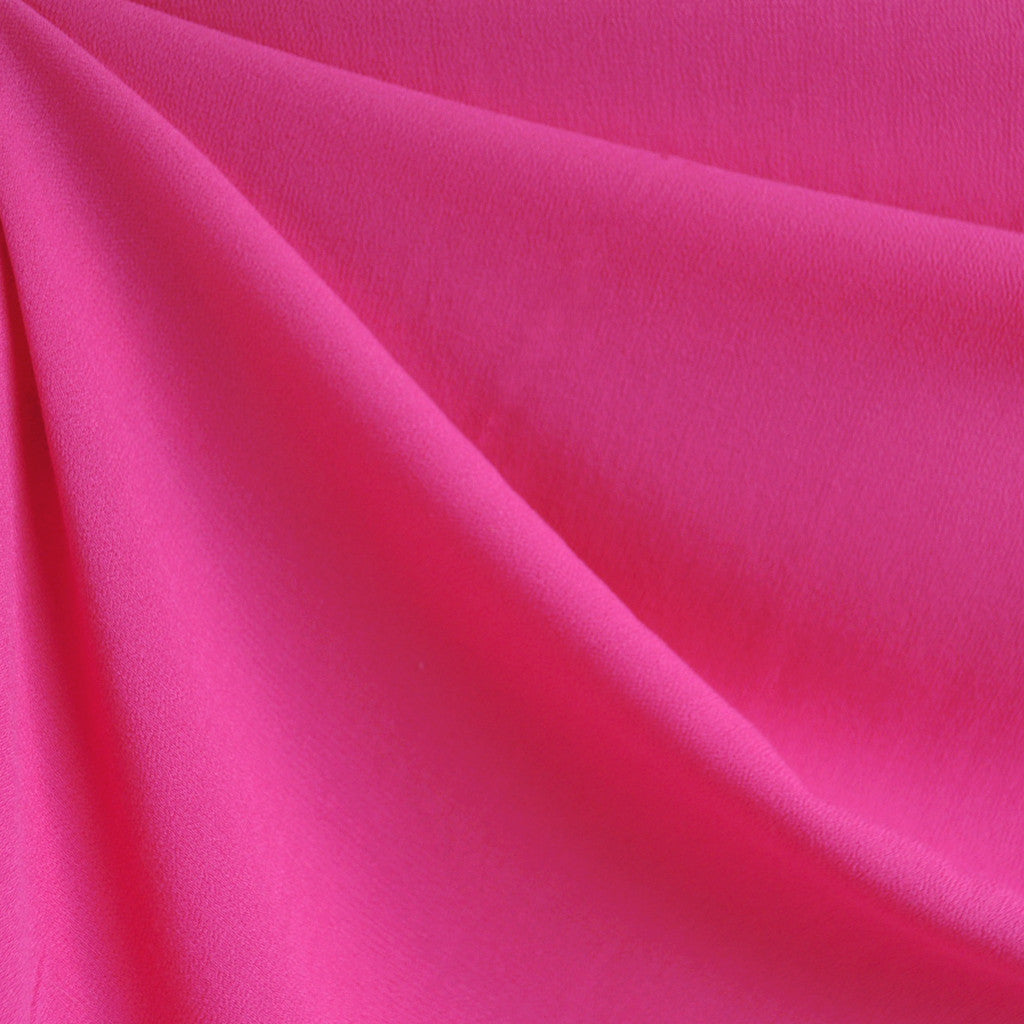 Rayon Crepe Solid Hot Pink SY - Sold Out - Style Maker Fabrics