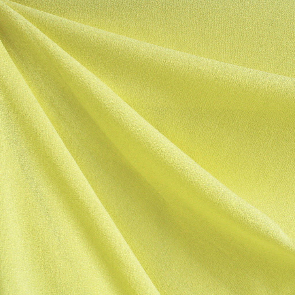Rayon Crepe Solid Yellow SY - Sold Out - Style Maker Fabrics