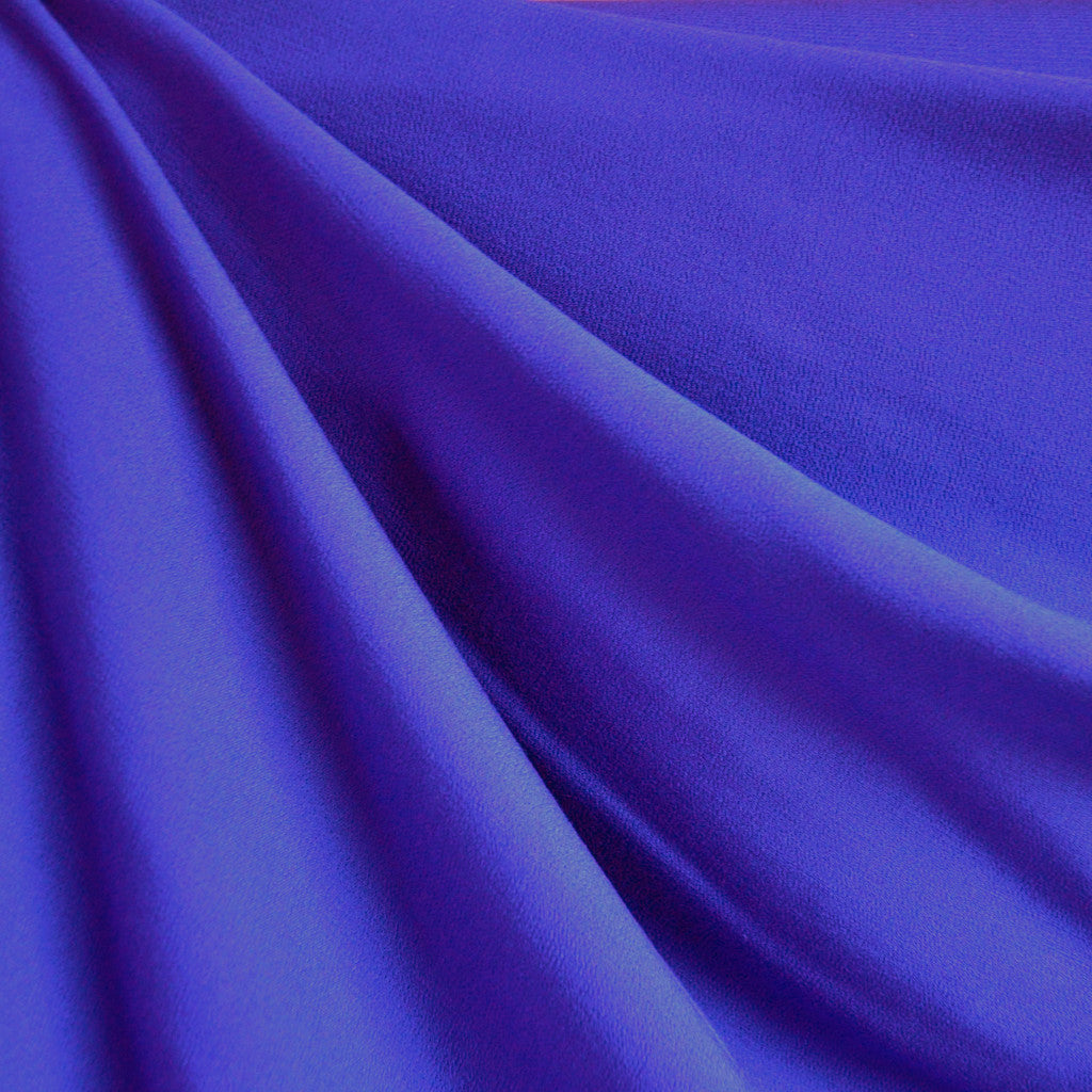Rayon Crepe Solid Cobalt Blue - Sold Out - Style Maker Fabrics