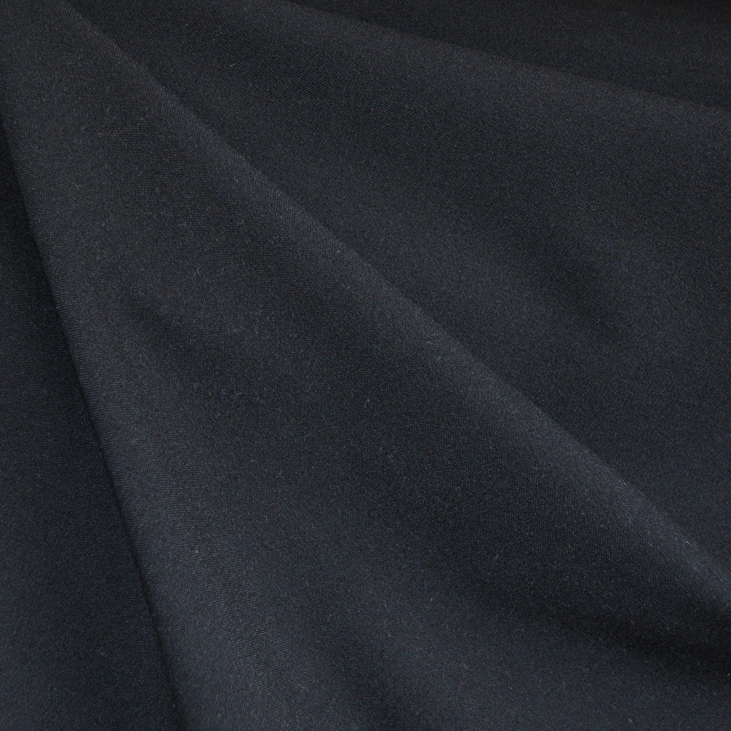 Bottom Weight Rayon Crepe Solid Black - Sold Out - Style Maker Fabrics