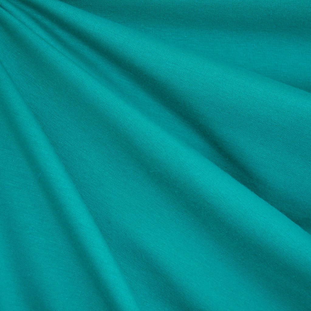 French Terry Solid Teal - Fabric - Style Maker Fabrics