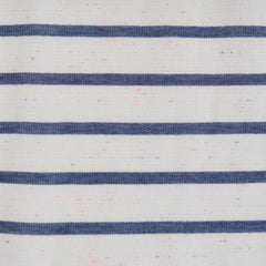 Neon Confetti French Terry Stripe Ivory/Denim - Sold Out - Style Maker Fabrics