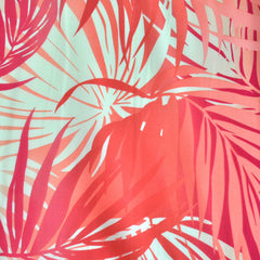 Tropical Leaves Poly Crepe Coral - Sold Out - Style Maker Fabrics