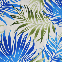 Bright Tropical Leaves Rayon Shirting Blue/Green SY - Sold Out - Style Maker Fabrics