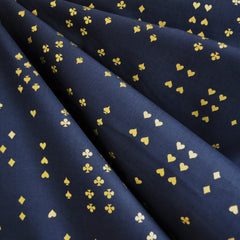 Wonderland Follow Suit Lawn Navy Metallic - Sold Out - Style Maker Fabrics