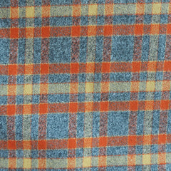Mammoth Flannel Classic Plaid Pumpkin/Grey - Fabric - Style Maker Fabrics
