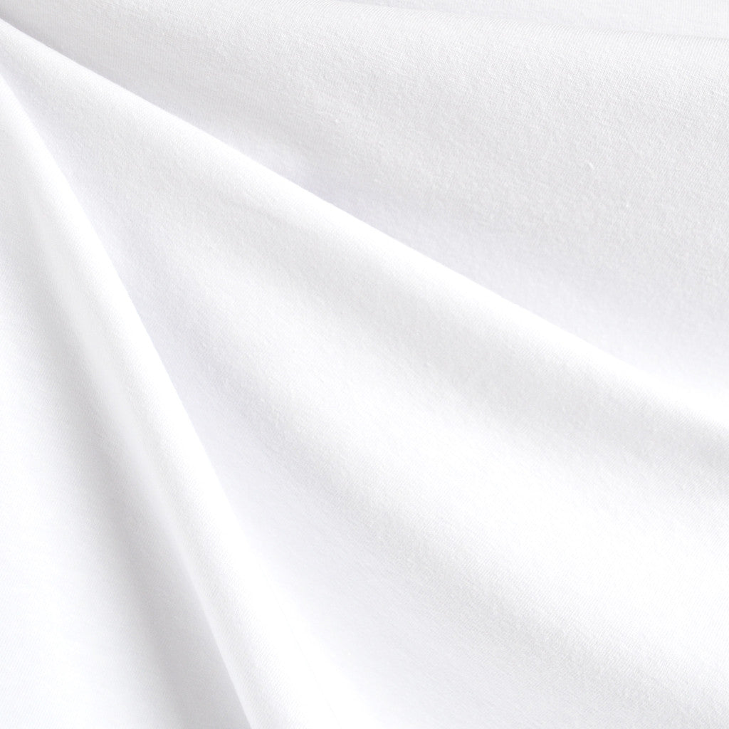Cotton Jersey Knit Solid White - Sold Out - Style Maker Fabrics