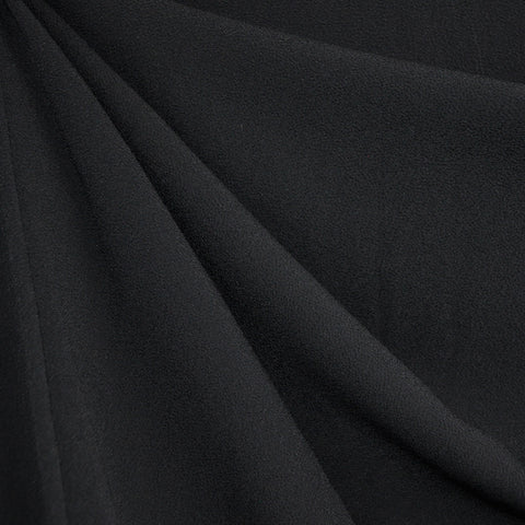 Rayon Pebble Crepe Solid Black