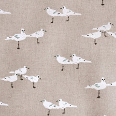 Tidal Wave Linen Blend Sea Gulls Neutral - Sold Out - Style Maker Fabrics
