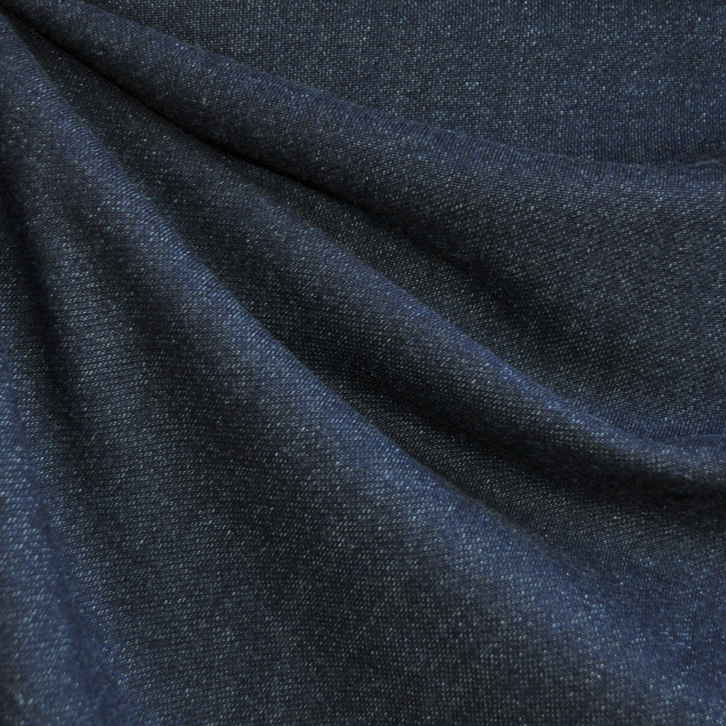 French Terry Solid Deep Indigo - Fabric - Style Maker Fabrics