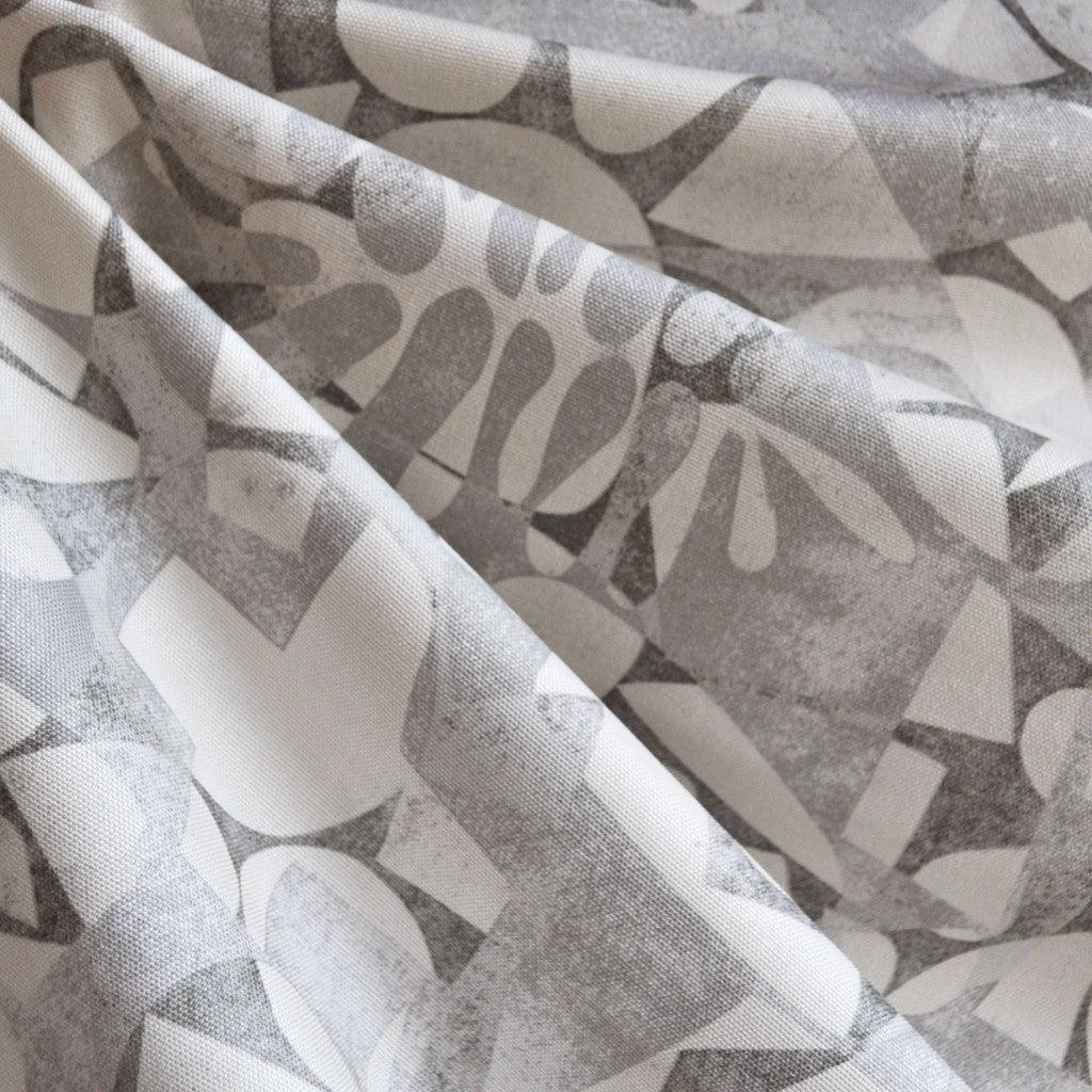 Printmaking Nosara Canvas Grey - Fabric - Style Maker Fabrics