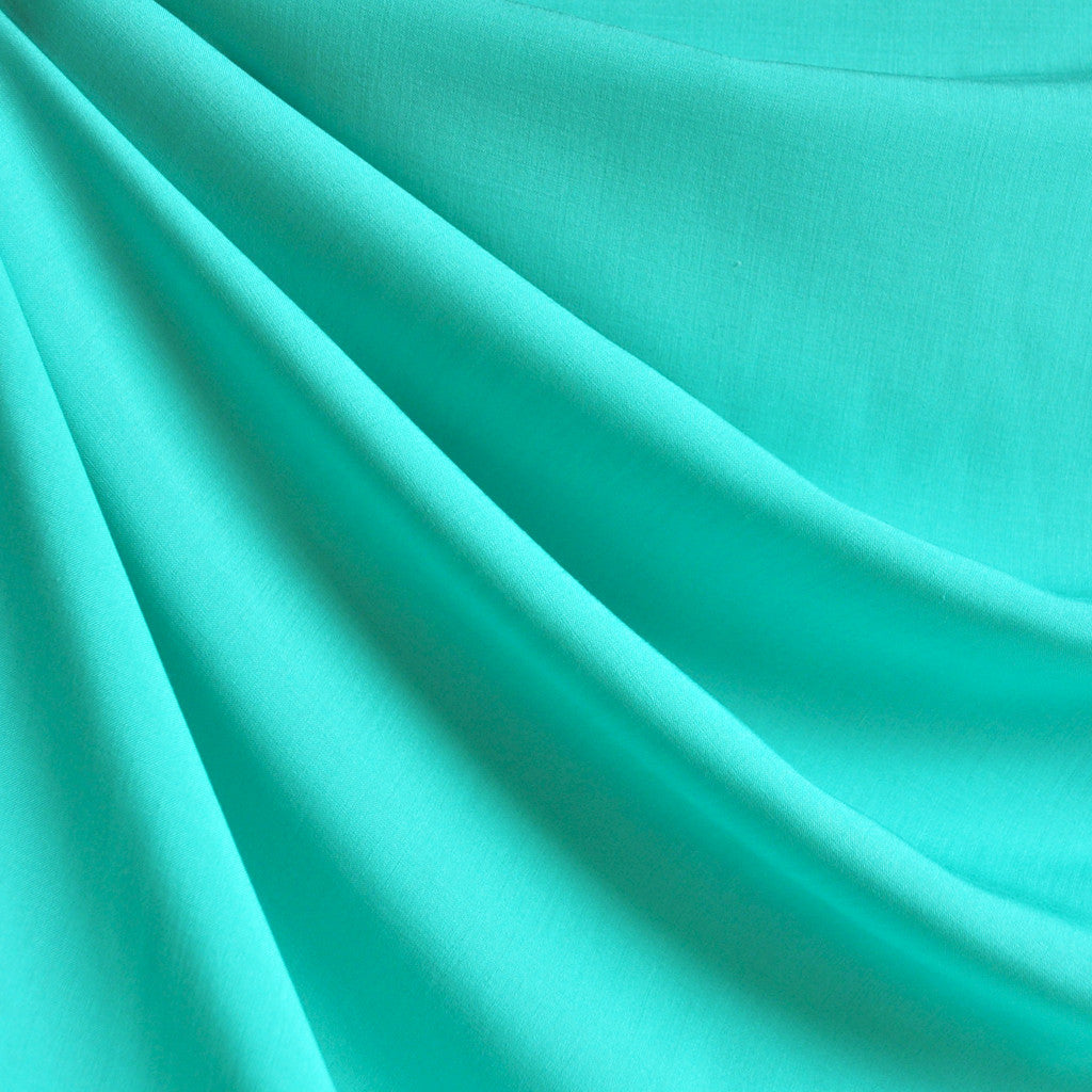 Rayon Challis Solid Sea Glass - Fabric - Style Maker Fabrics