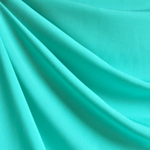 Rayon Challis Solid Sea Glass