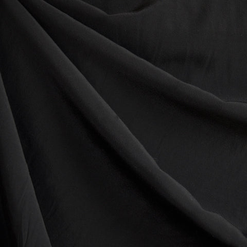 Soft Rayon Crepe Solid Black