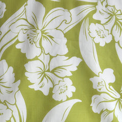 Tropical Floral Cotton Lawn Print Pear/White - Fabric - Style Maker Fabrics
