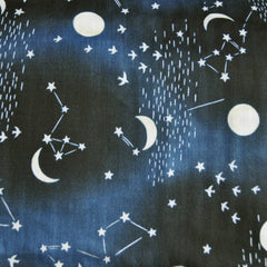 Japanese Double Gauze Celestial Sky Midnight - Sold Out - Style Maker Fabrics