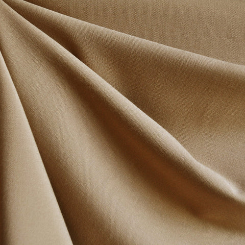 Stretch Double Twill Solid Camel