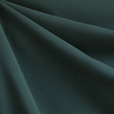 Stretch Double Twill Solid Deep Emerald