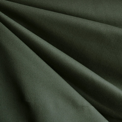 Stretch Cotton Twill Solid Forest