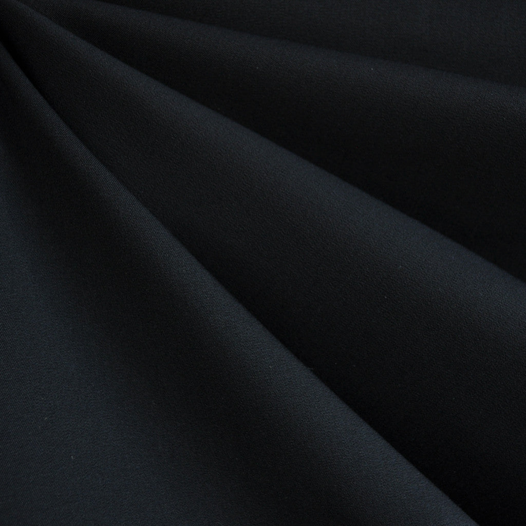 Stretch Cotton Twill Solid Black - Fabric - Style Maker Fabrics