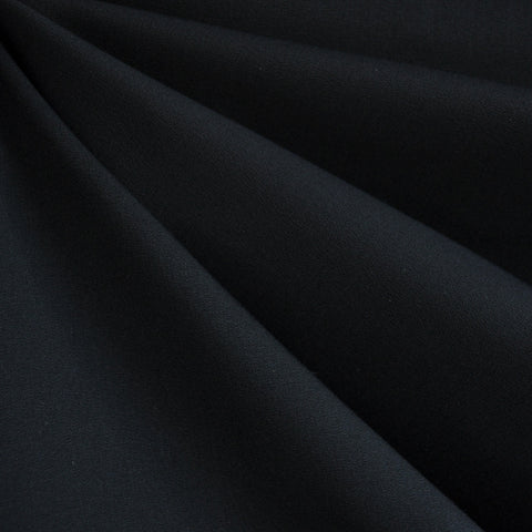 Stretch Cotton Twill Solid Black