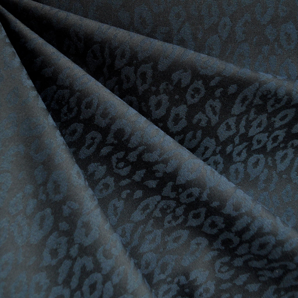 Stretch Double Twill Animal Print Jacquard Jade - Sold Out - Style Maker Fabrics