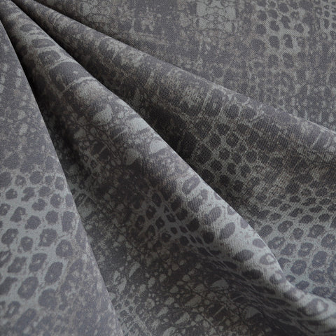 Stretch Double Twill Snakeskin Print Grey